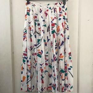Vintage Ellen Tracy 80's Midi Pleated Skirt